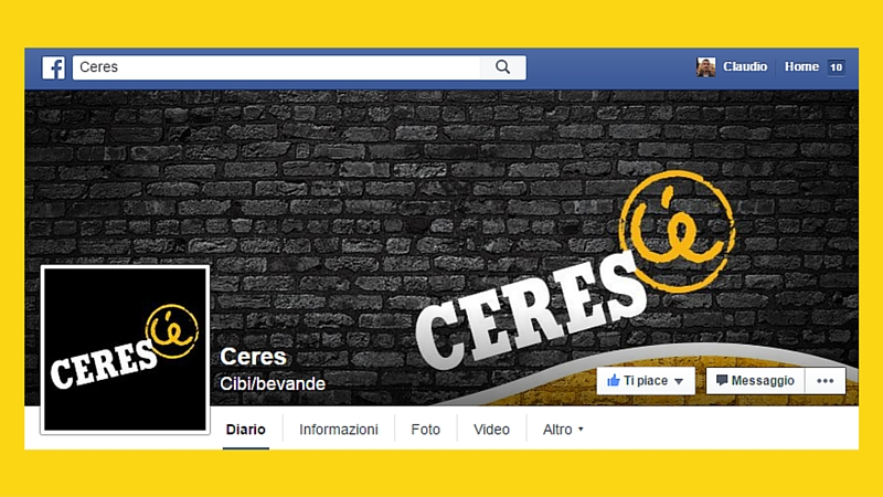 la cover di ceres il più bel negozio di piaza facebook