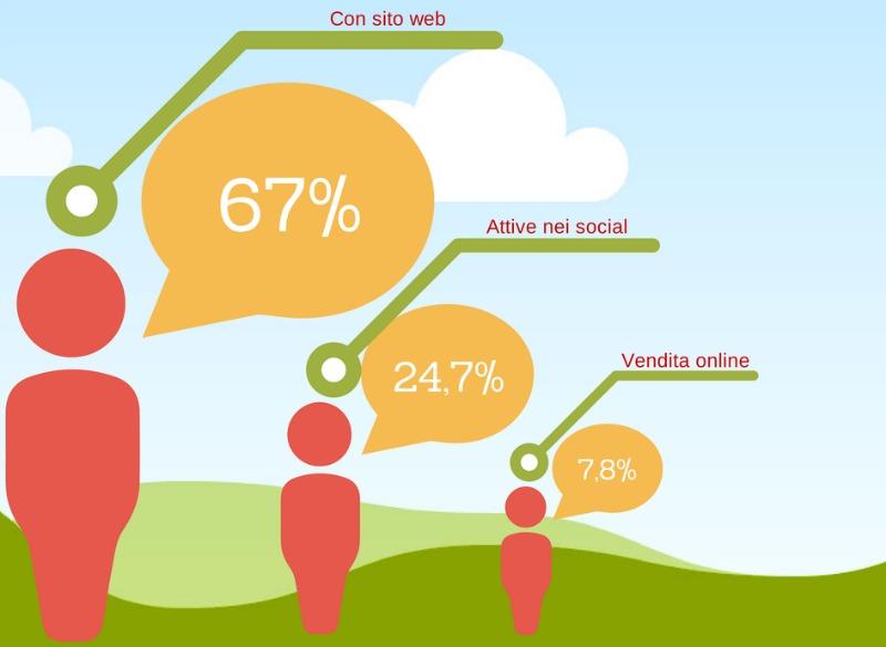 Le imprese nel web in percentuale