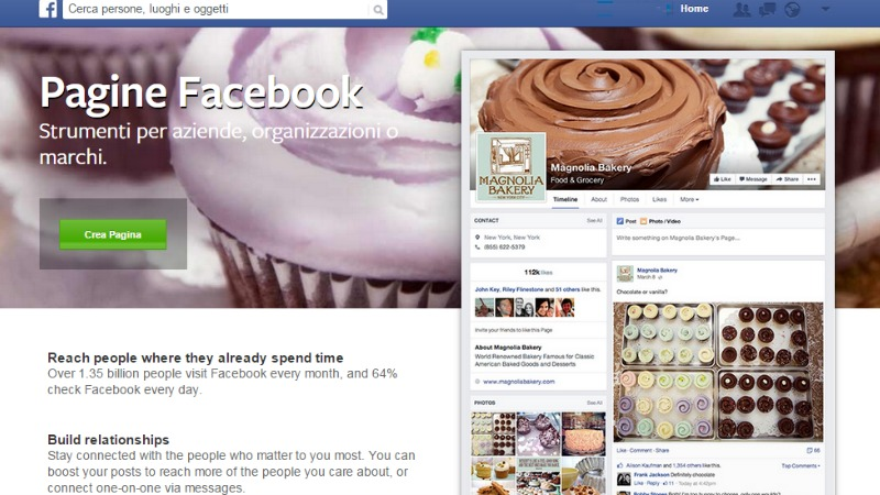 pagina facebook o profilo?