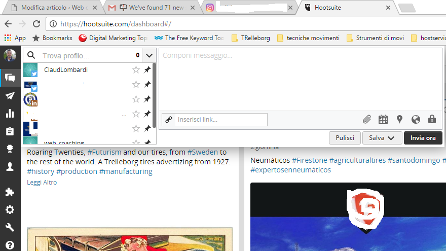 instagram; hootsuite il tool più importante per gestire un account instagram di claudio lombardi