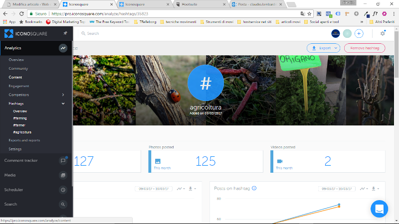 iconosquare il tool che ti permette di controllare hashtag e competitors per la strategia instagram