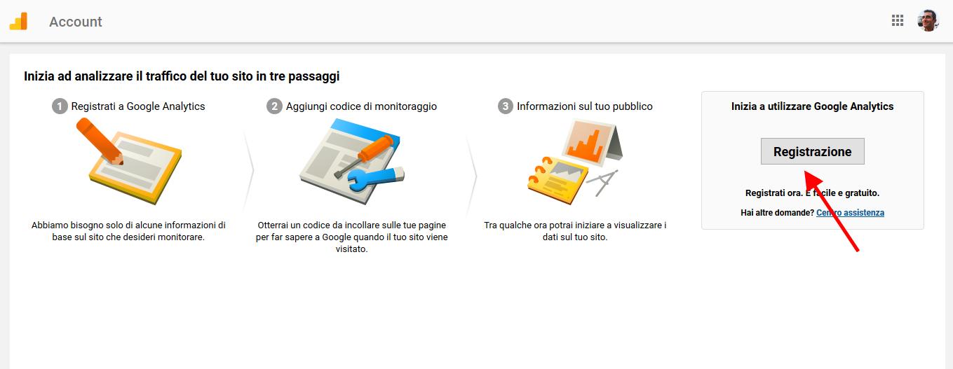 analytics imposta account per il controllo del sito di claudio lombardi esperto web analytics