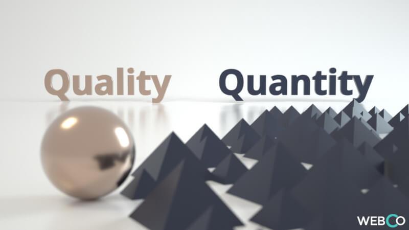 Qualità e Quantità nel Content Marketing Agenzia Web Coaching Roma
