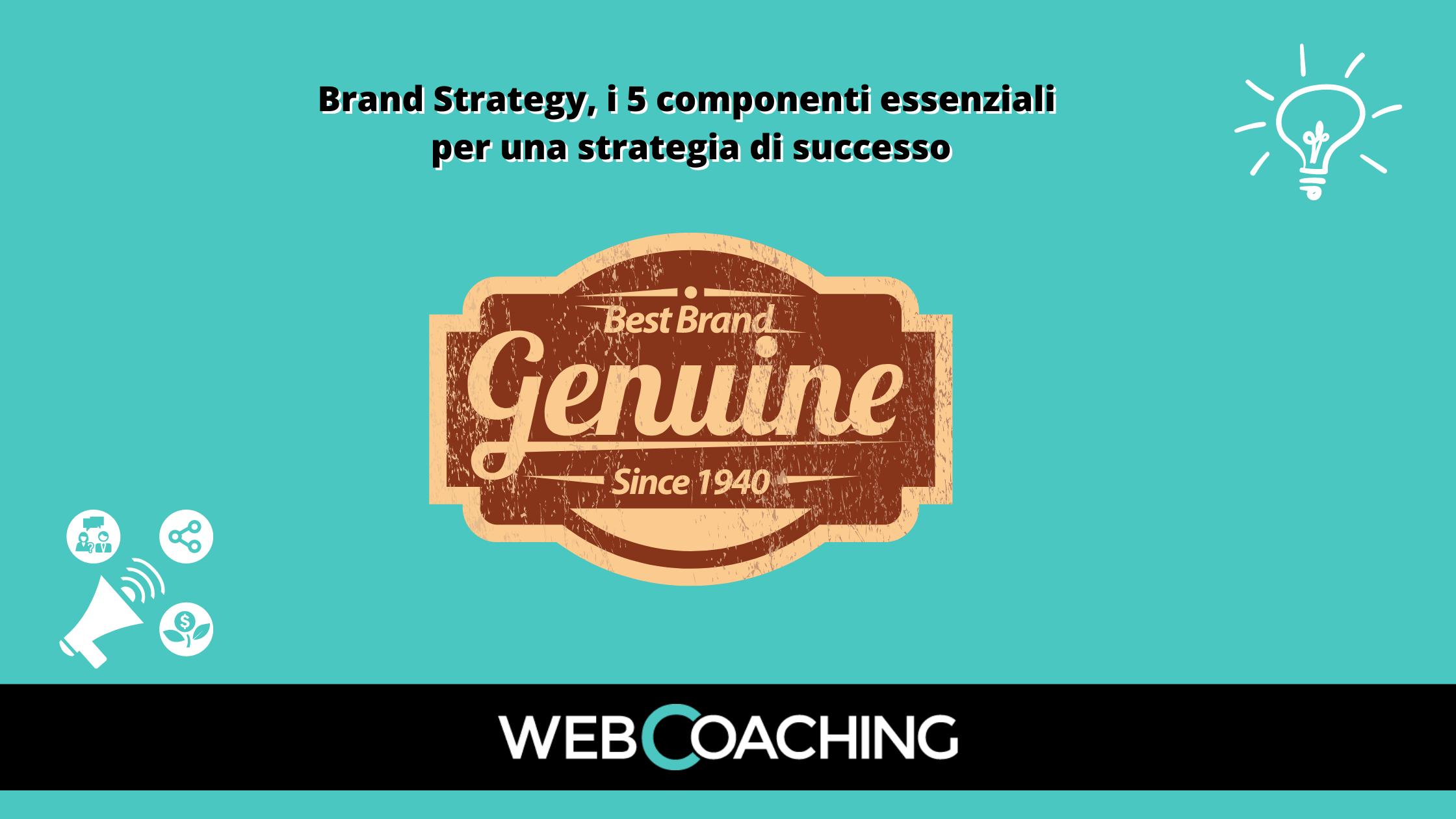 Brand Strategy 5 componenti