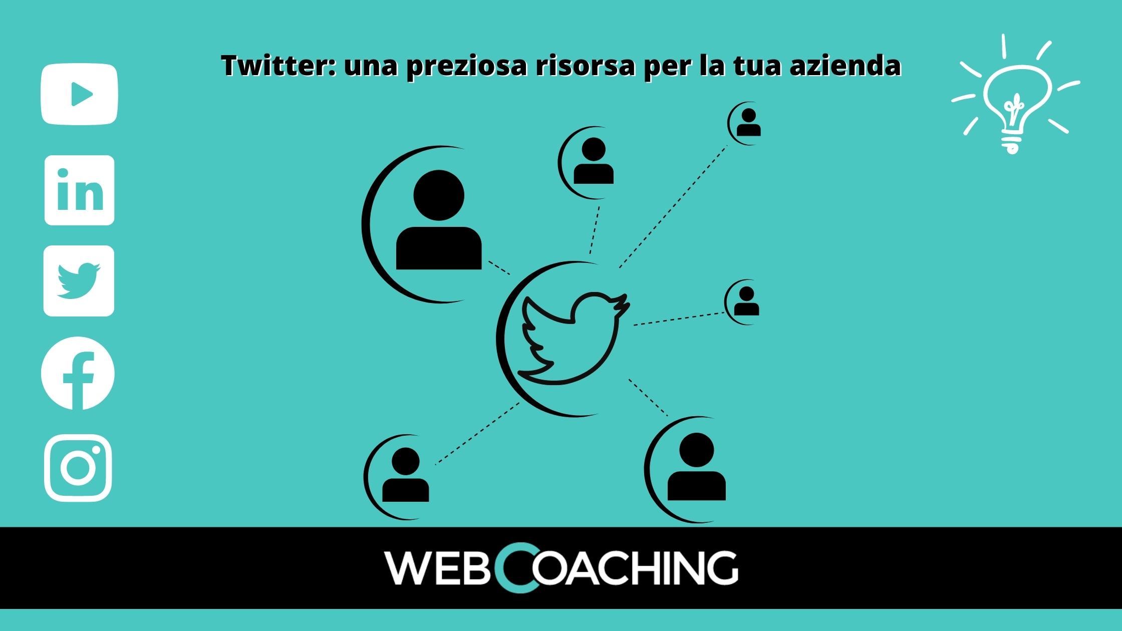 Twitter preziosa risorsa per aziende